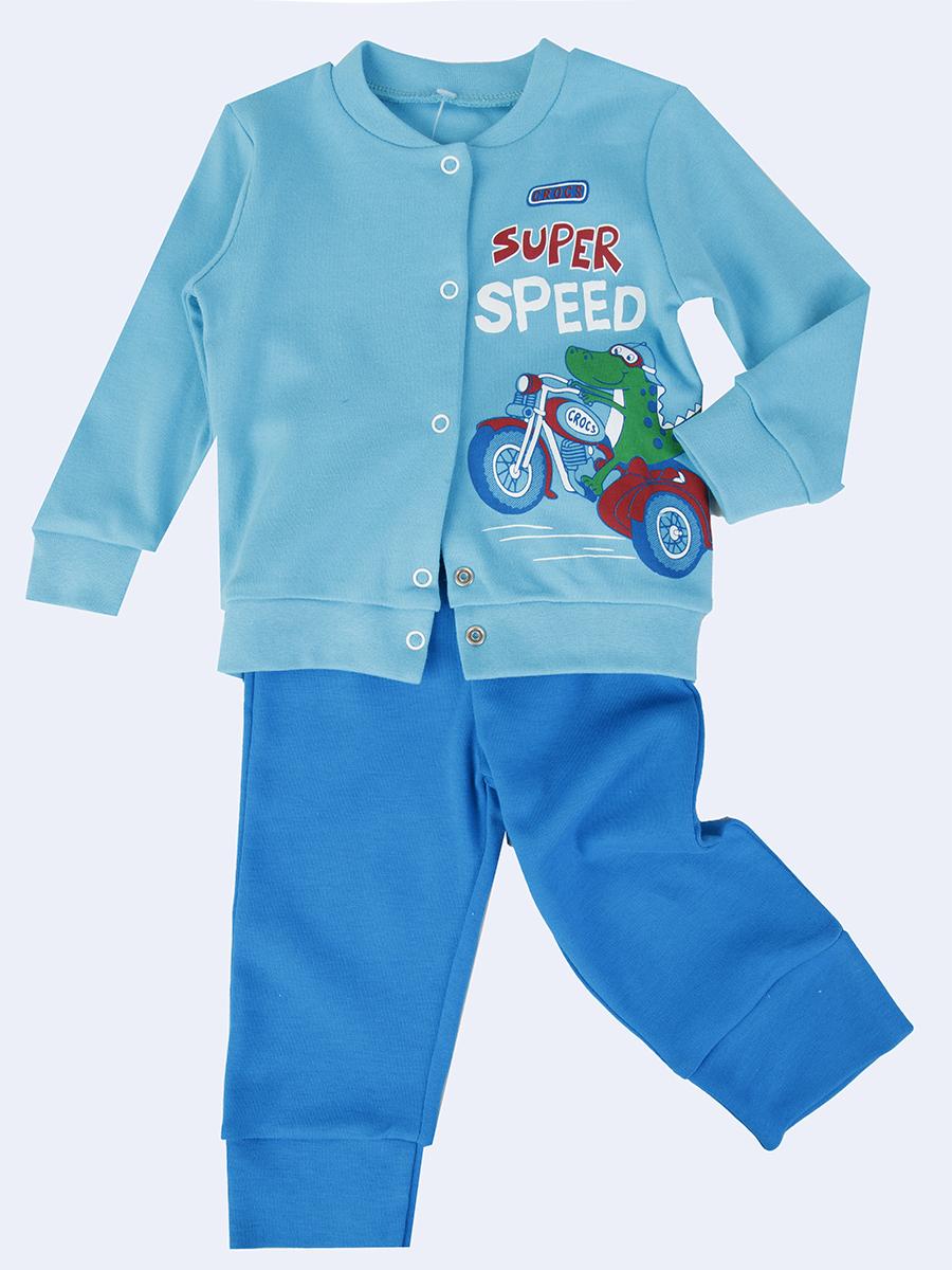 Комплект для девочки: штанишки и кофточка, цвет: бирюзовый