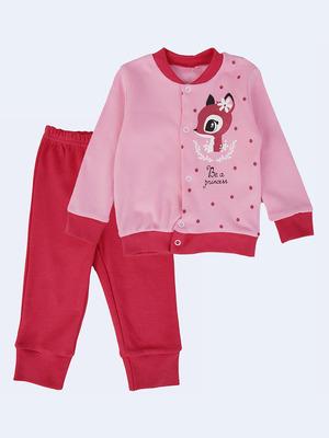 Комплект для девочки: штанишки и кофточка