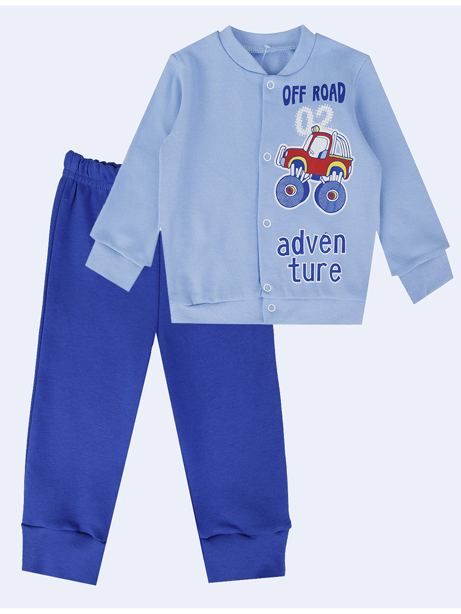 Комплект для девочки: штанишки и кофточка, цвет: голубой
