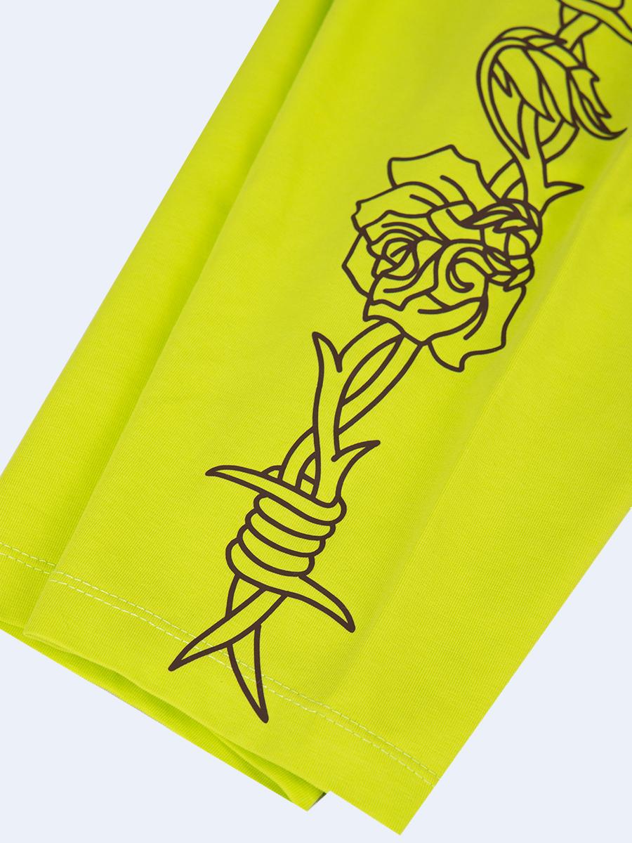 Бриджи укороченные со средней посадкой для девочки Тай-Дай, цвет: салатовый