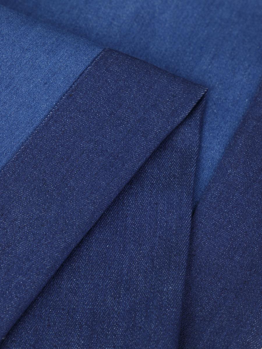 Брюки широкие с завышенной талией для девочки, цвет: синий