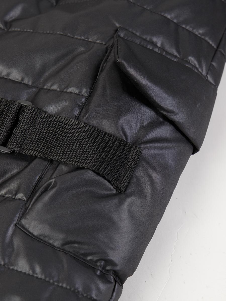 Брюки прямые со средней посадкой для мальчика, цвет: черный