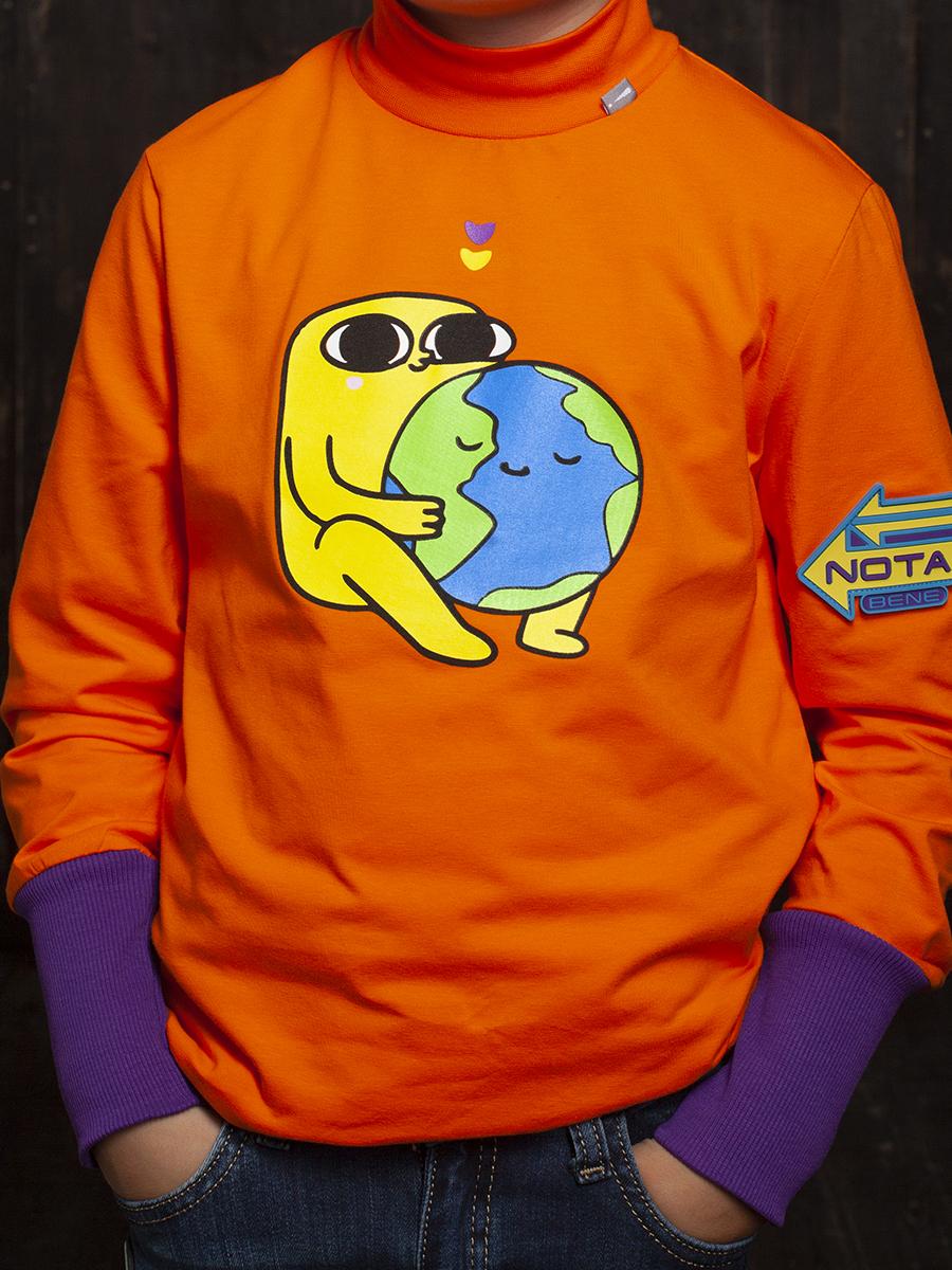 Водолазка для мальчика, цвет: оранжевый