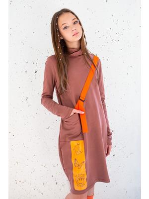 Платье О-образного силуэта
