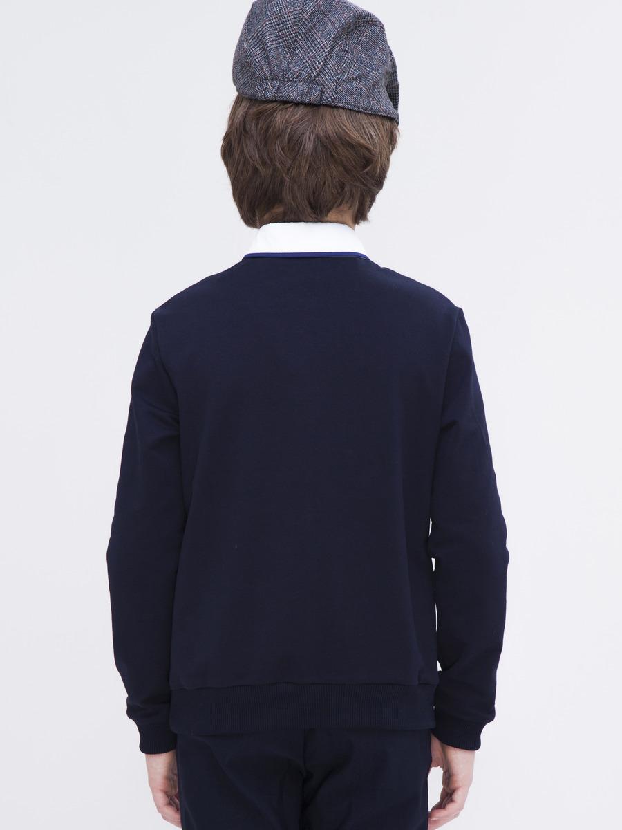 Джемпер обманка для мальчика, цвет: темно-синий