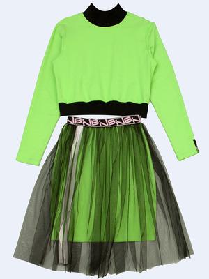 Комплект: лонгслив и юбка прямого силуэта