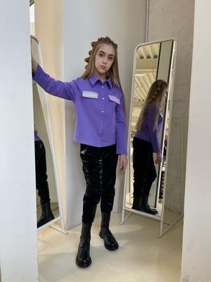 Рубашка свободного силуэта для девочки