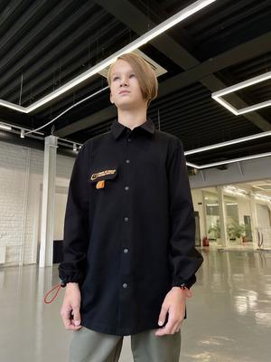 Рубашка прямого силуэта для мальчика