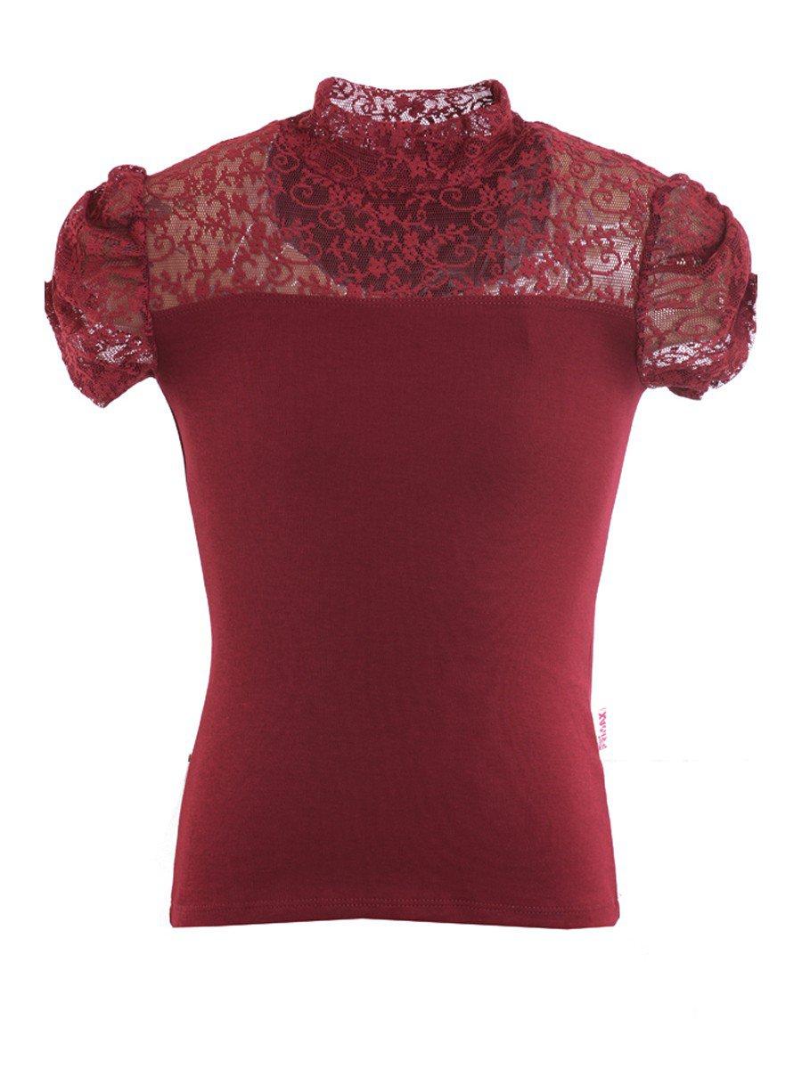 Водолазка для девочки, цвет: бордовый