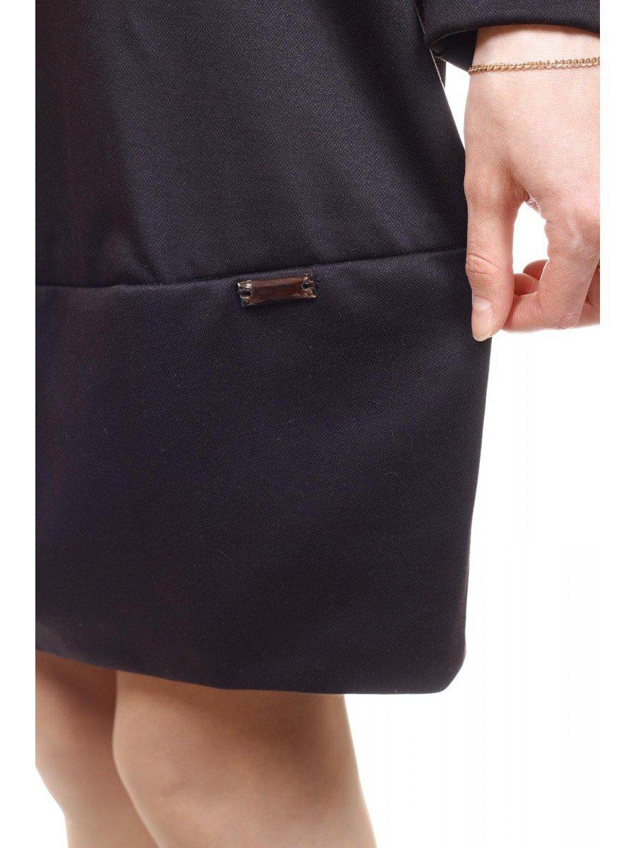Платье трикотажное для девочки, цвет: черный