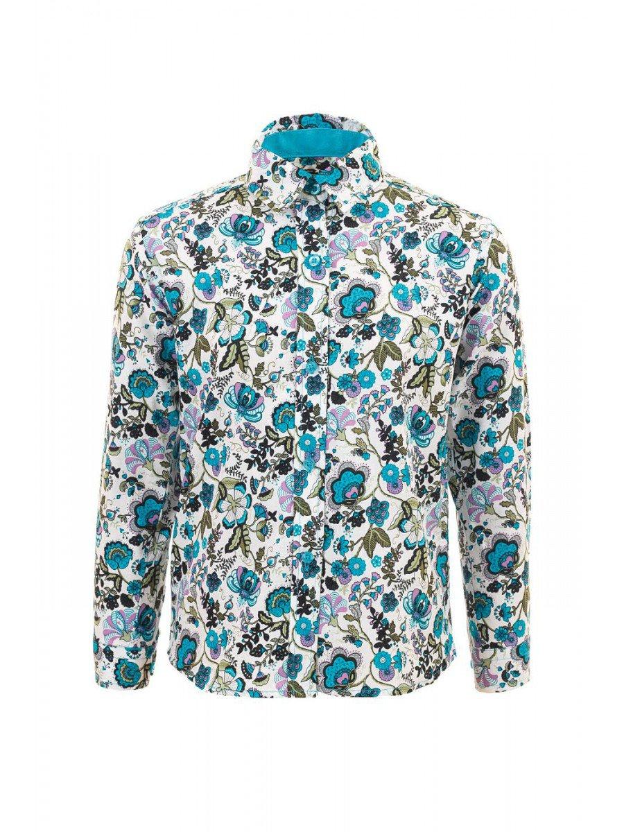 Блузка для девочки, цвет: цветочный узор
