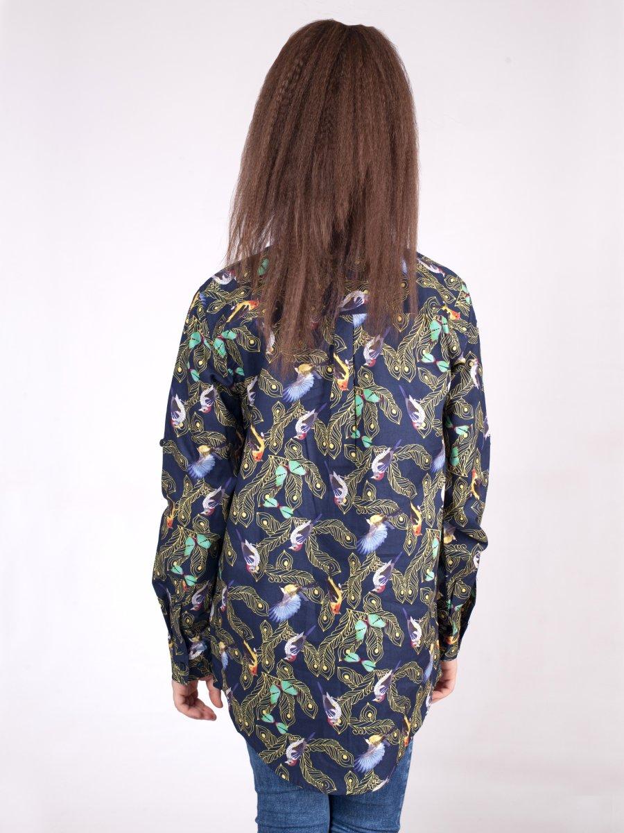 Блузка для девочки, цвет: мультиколор