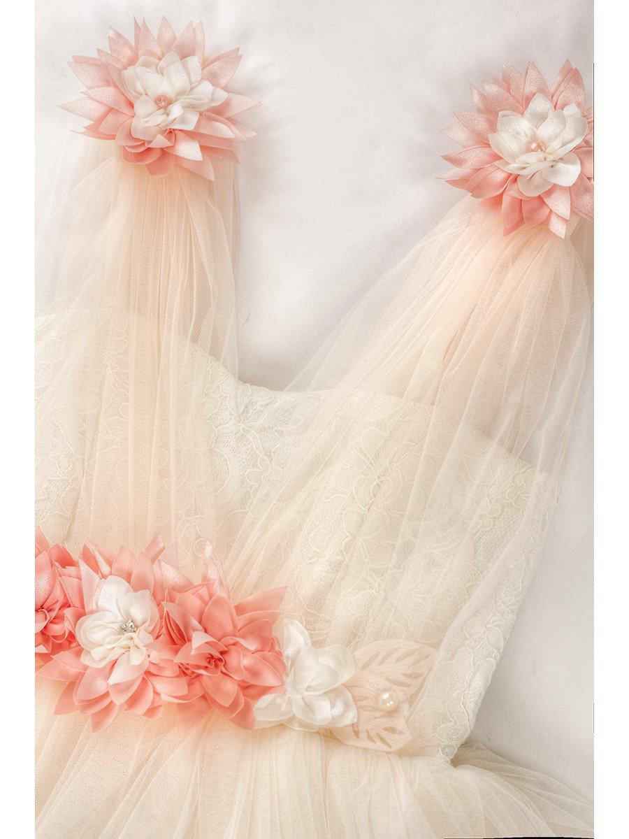 Платье для девочки, цвет: пудра