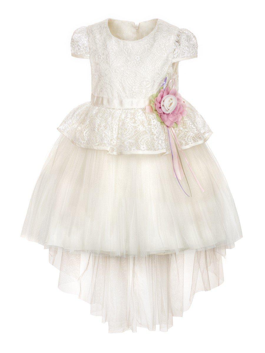 Платье для девочки, цвет: молочный