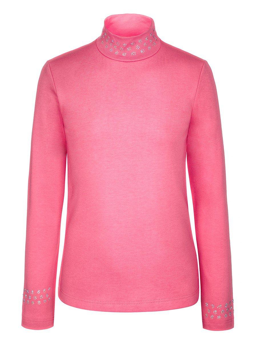 Водолазка для девочки с начесом, цвет: розовый