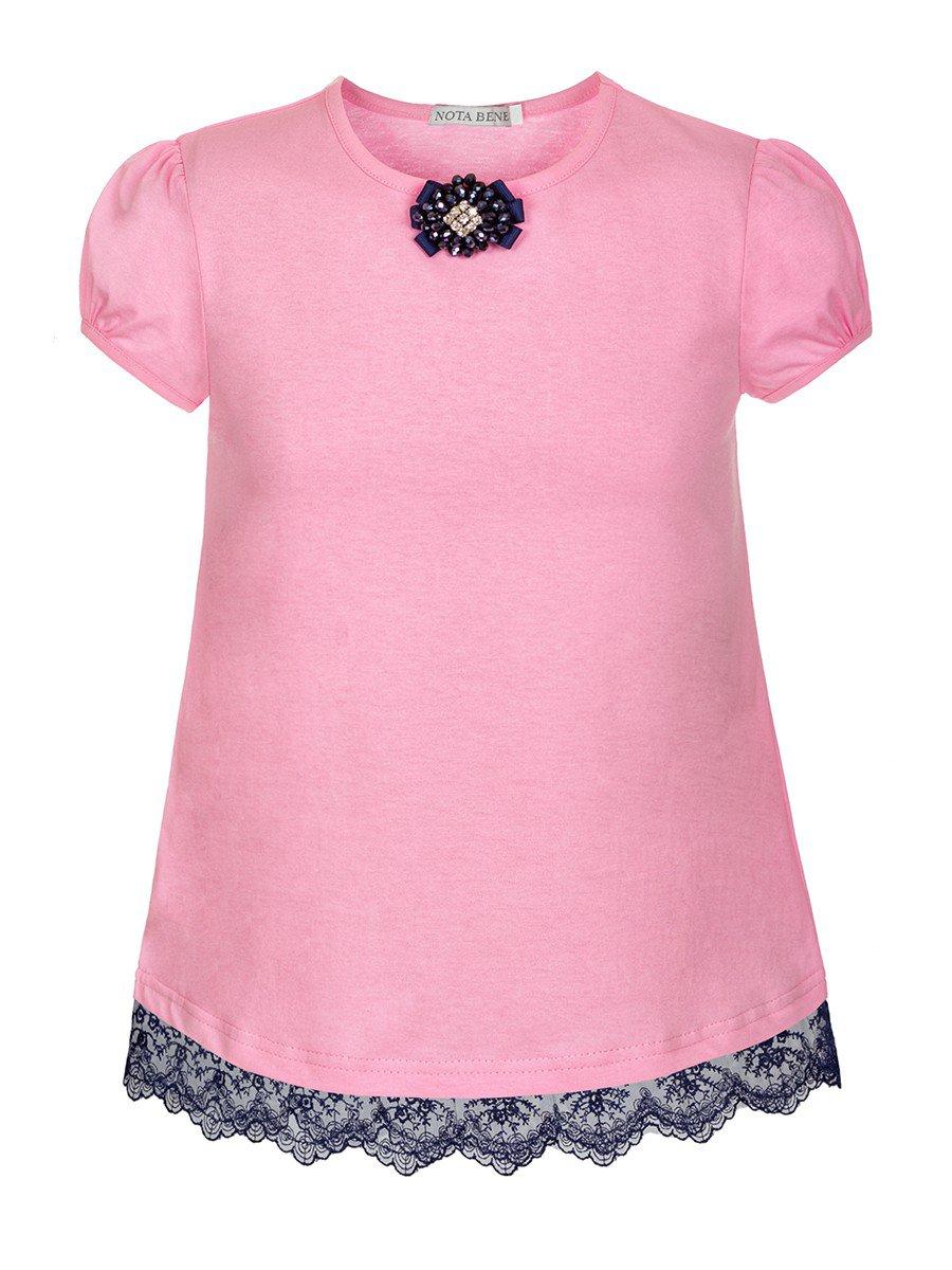 Блузка для девочки, цвет: розовый