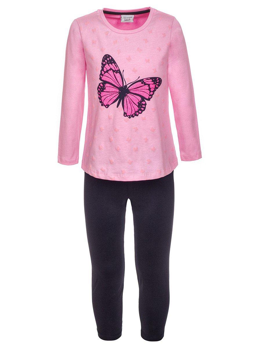 Комплект:туника и лосины, цвет: розовый