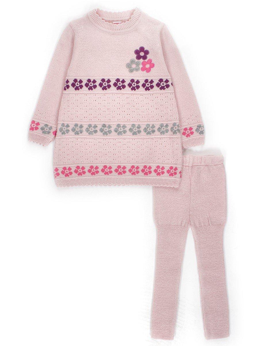 Комплект для девочки:туника и лосины, цвет: пудра