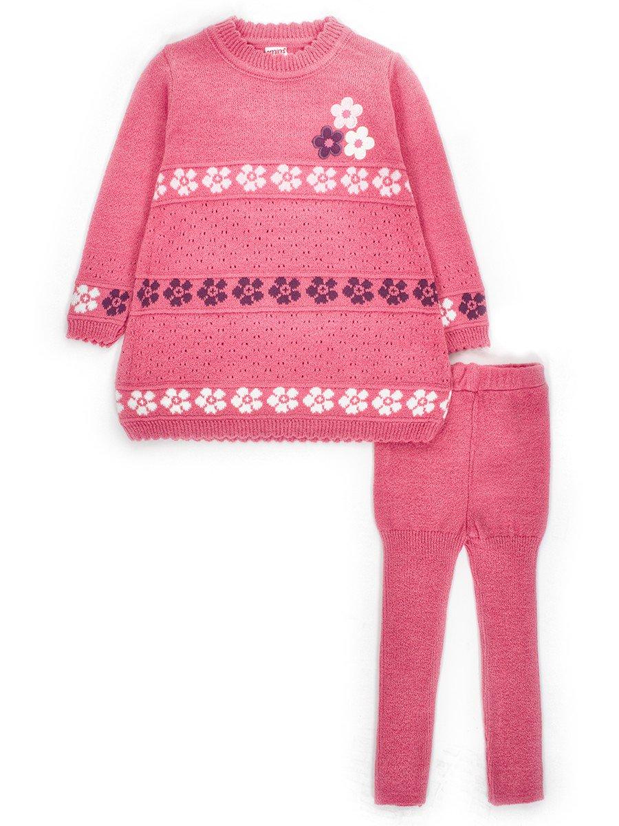 Комплект для девочки:туника и лосины, цвет: розовый