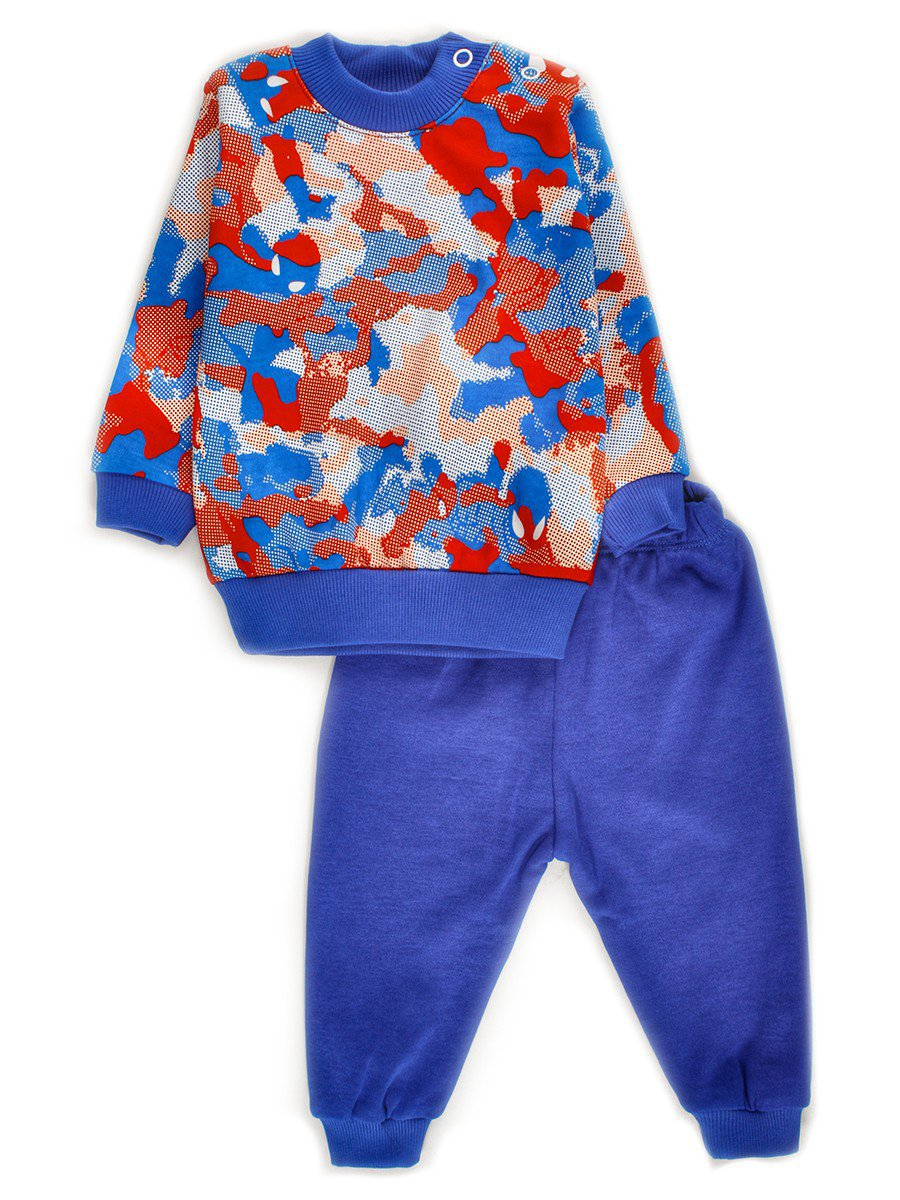 Комплект для малчика: кофточка и штанишки, цвет: синий