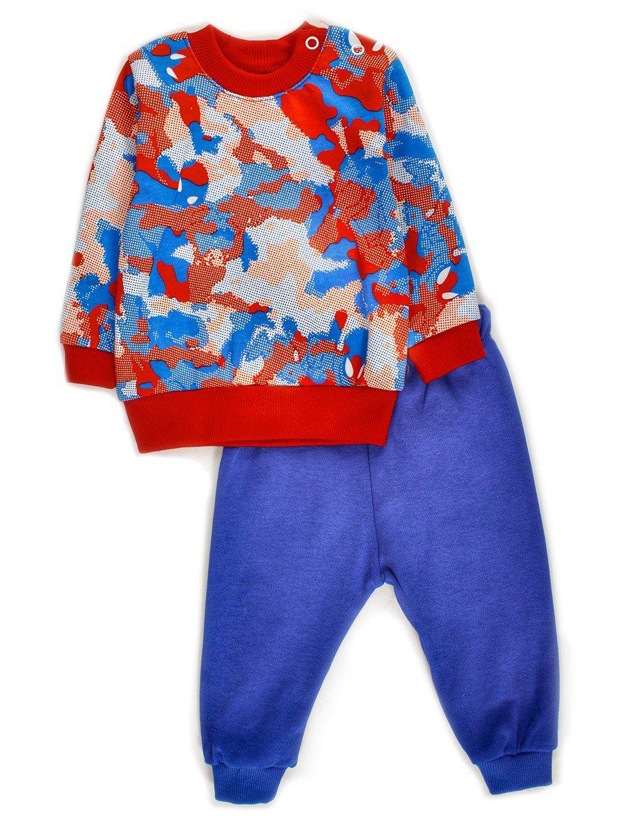 Комплект для малчика: кофточка и штанишки, цвет: красный