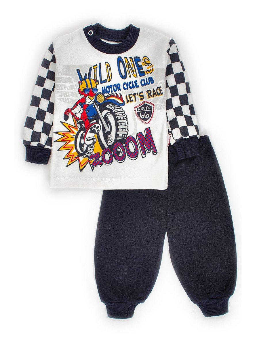 Комплект для малчика: толстовка и штанишки, цвет: темно-синий