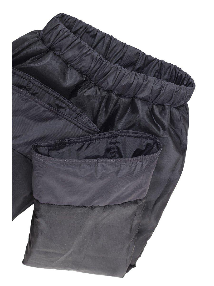 Брюки для девочки утепленные на флисе, цвет: серый