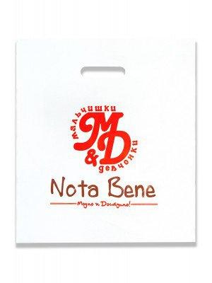 """Пакет полиэтиленовый с логотипом """"Nota Bene""""."""