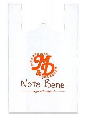 """Пакет полиэтиленовый с логотипом """"Nota Bene"""". (майка)"""