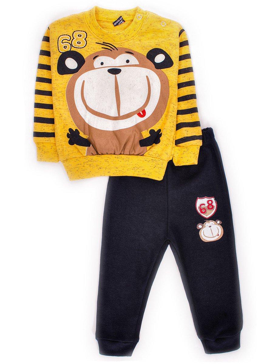 Комплект для мальчика: штанишки и кофточка, цвет: желтый