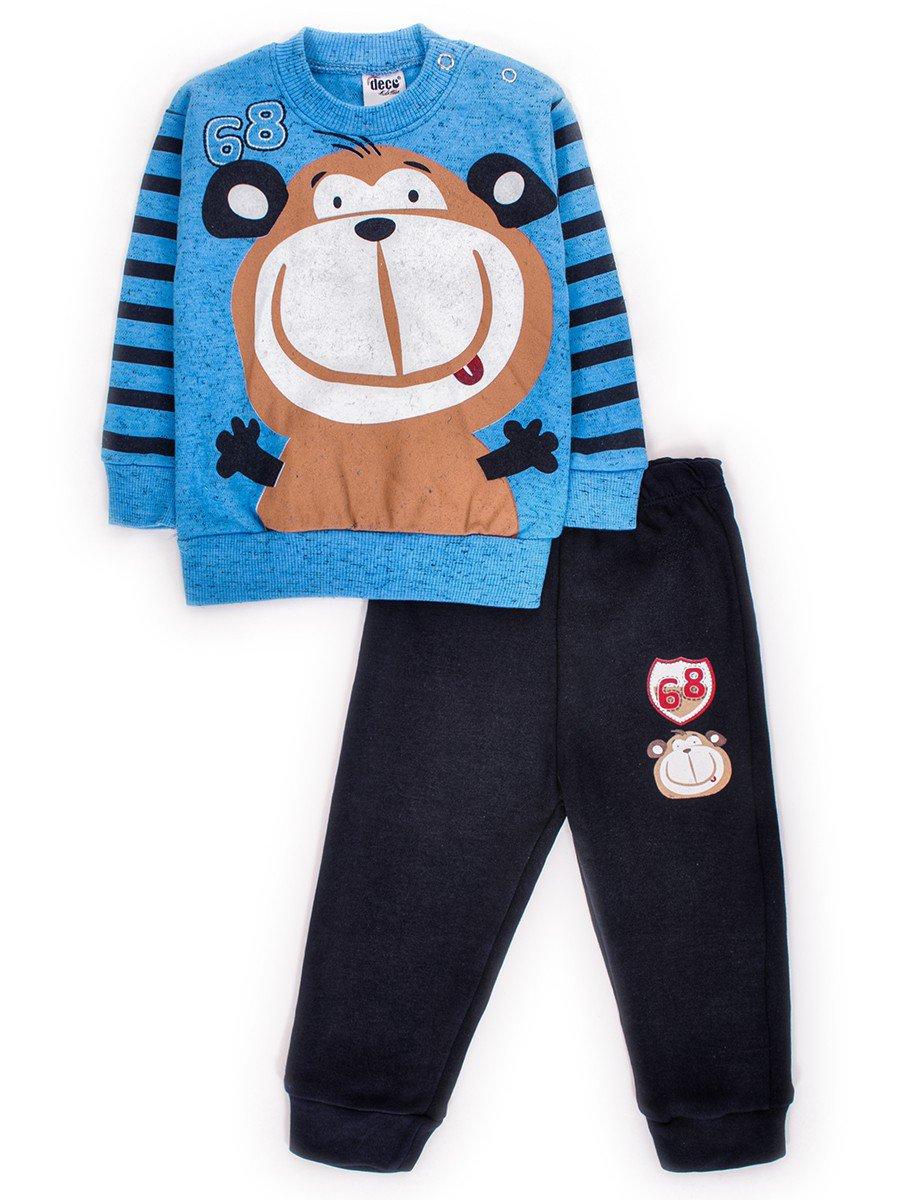 Комплект для мальчика: штанишки и кофточка, цвет: синий