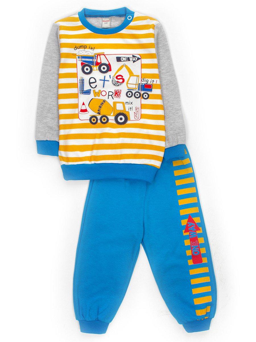 Комплект для мальчика: штанишки и кофточка, цвет: голубой