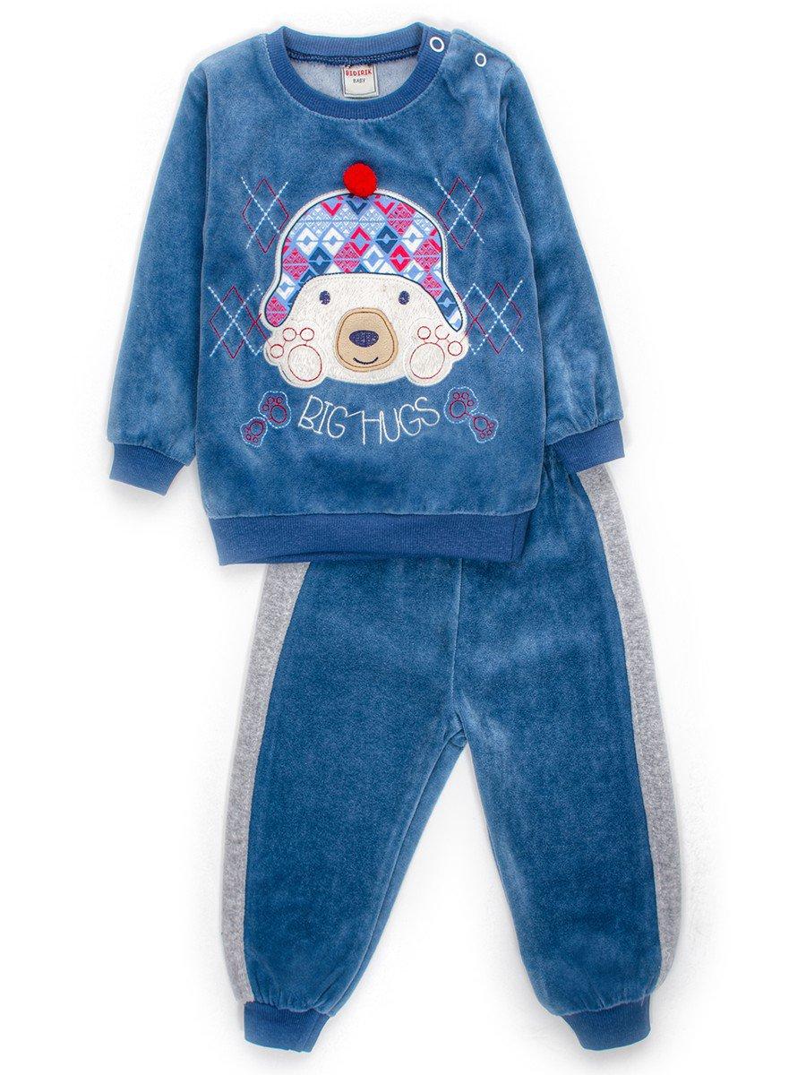 Комплект велюровый для мальчика: кофточка и штанишки