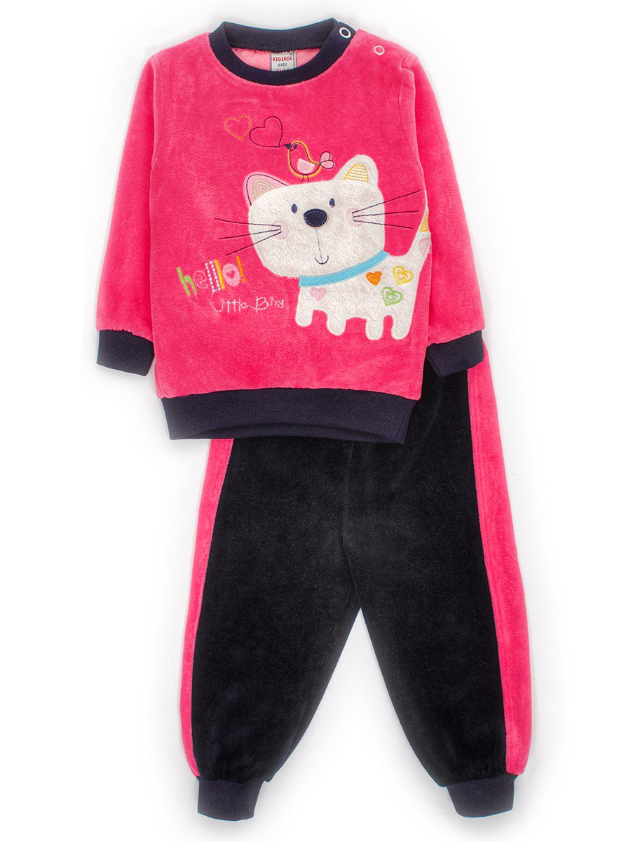Комплект велюровый для девочки: кофточка и штанишки