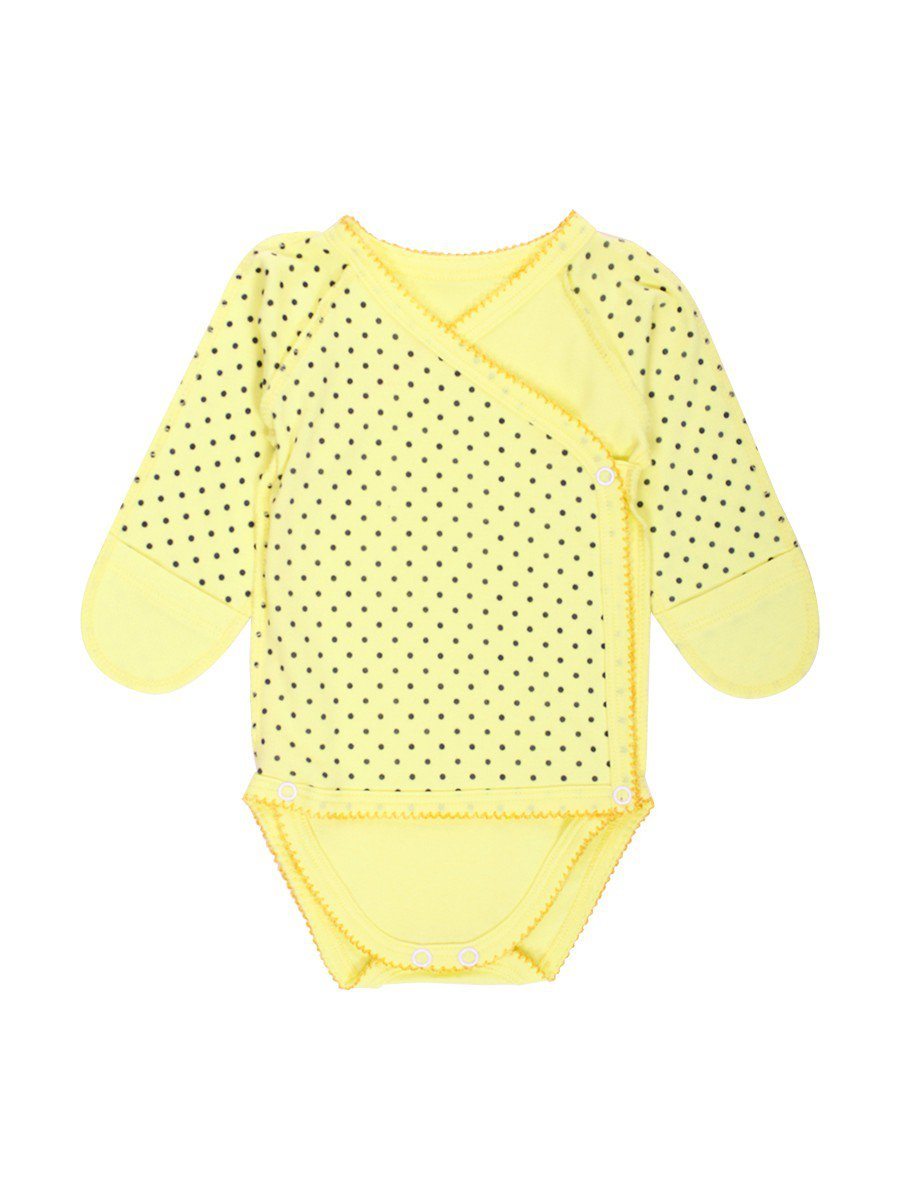 Боди детское, цвет: желтый