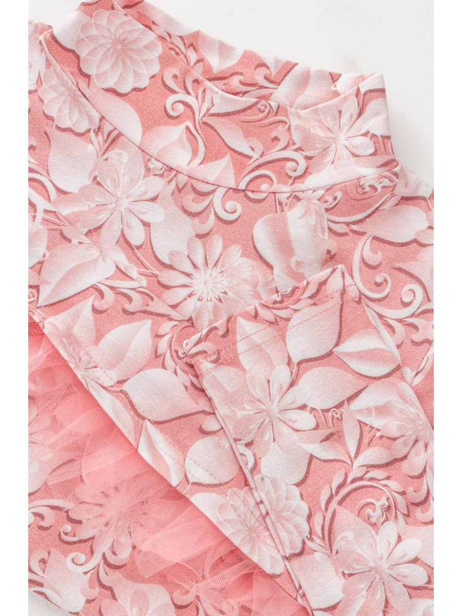 Водолазка для девочки с сеткой, цвет: пудра