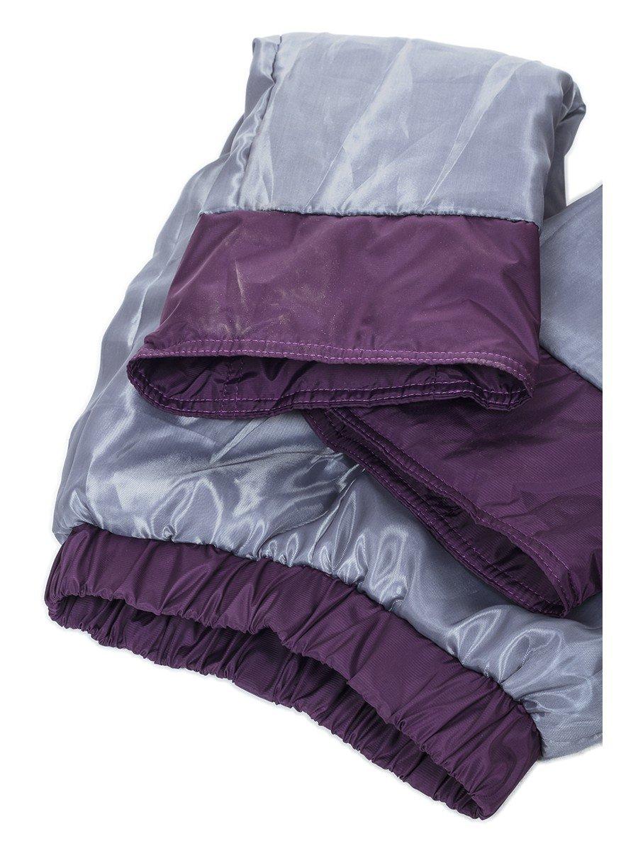 Брюки для девочки утепленные на флисе, цвет: фиолетовый