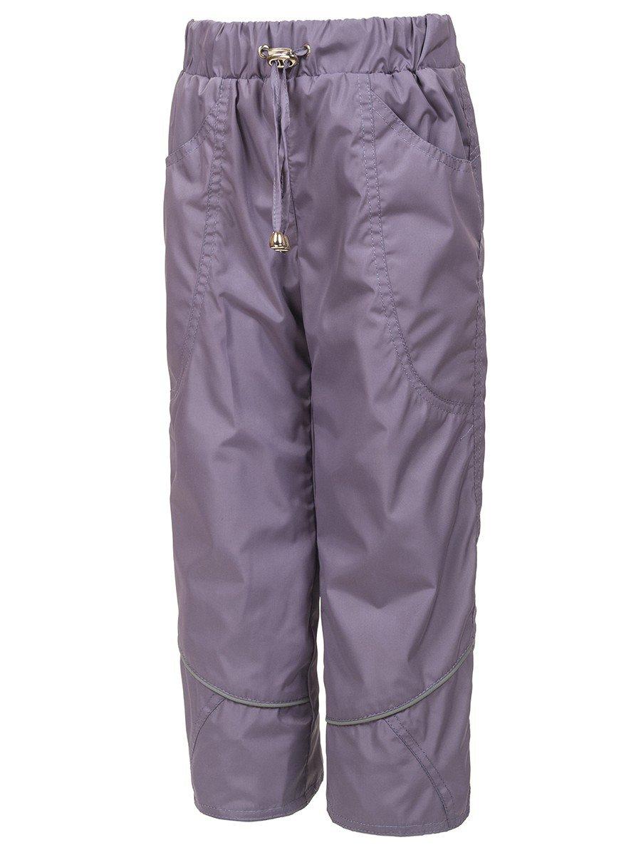 Брюки из плащевой ткани на подкладке из флиса (девочка), цвет: лиловый