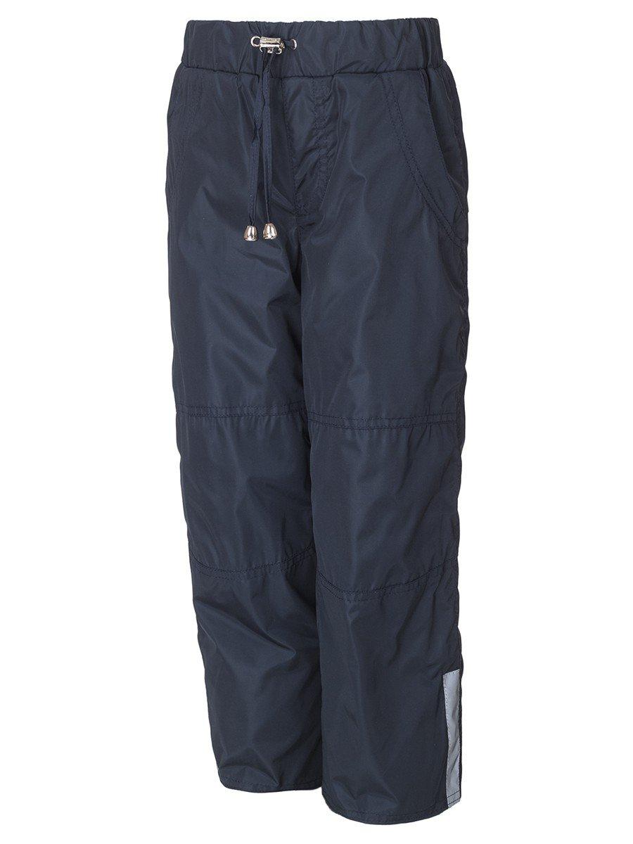 Брюки из плащевой ткани на подкладке из флиса (мальчик), цвет: синий
