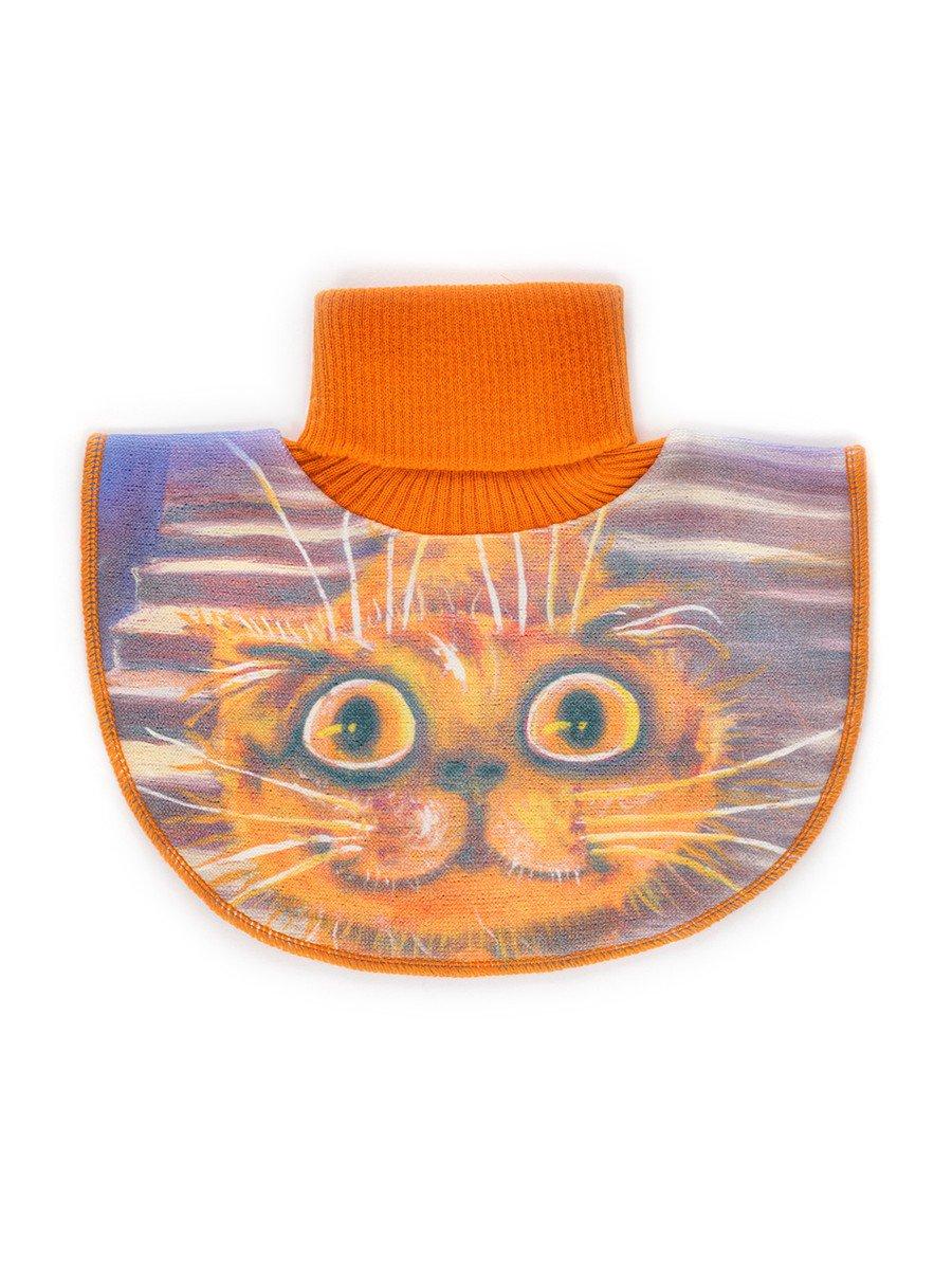 Манишка для девочки, цвет: оранжевый