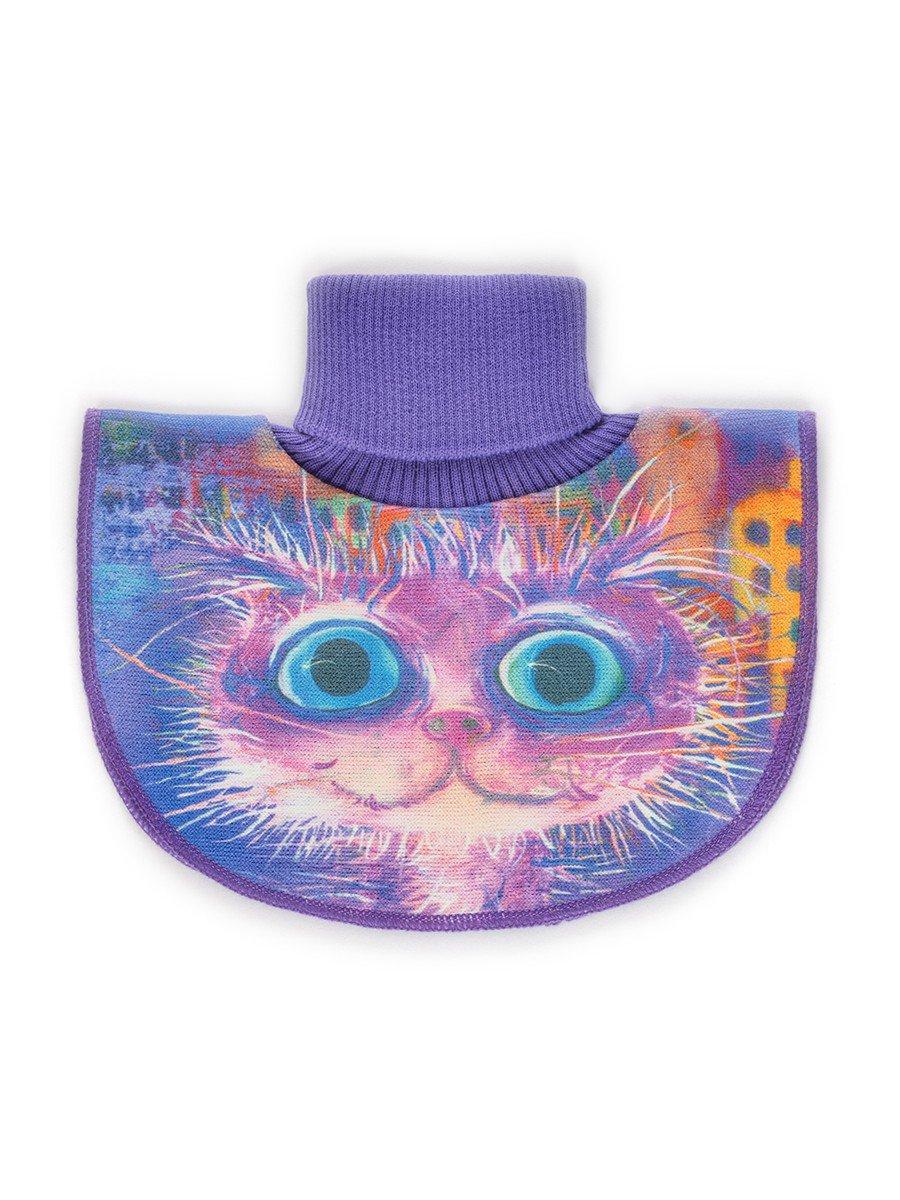Манишка для девочки, цвет: фиолетовый