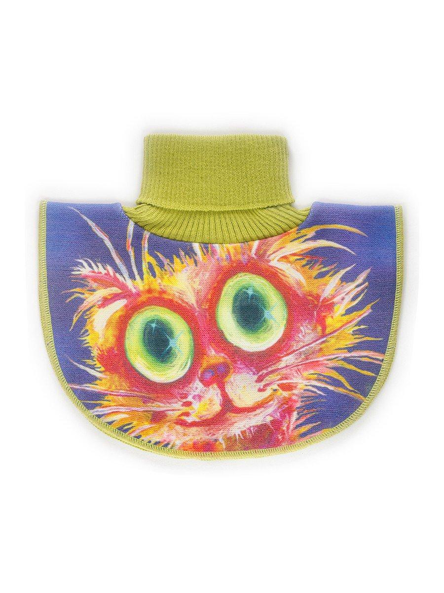 Манишка для девочки, цвет: оливковый