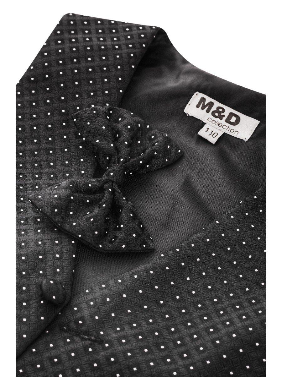 Костюм для мальчика: жилет,брюки,рубашка и бабочка, цвет: черный