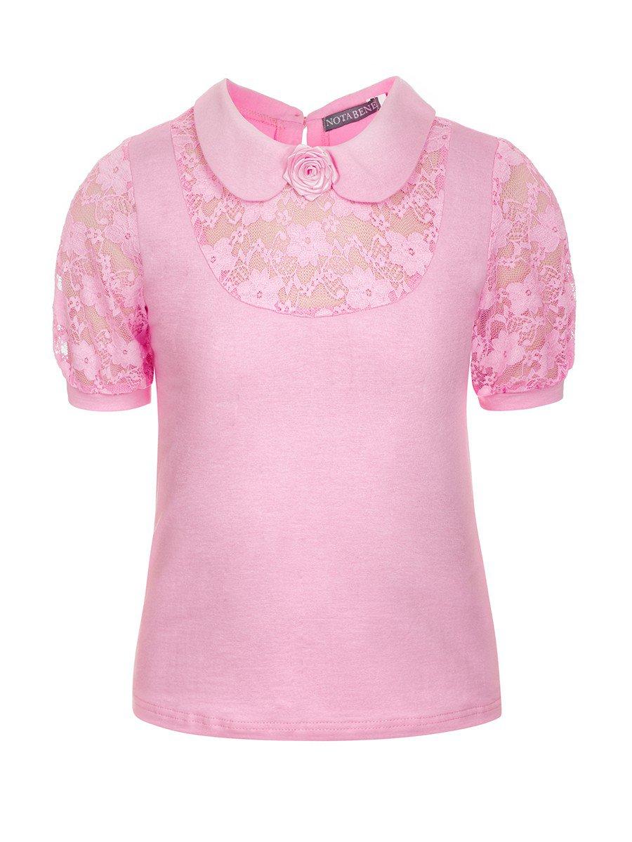 Блузка для девочки младшего школьного возраста, цвет: розовый