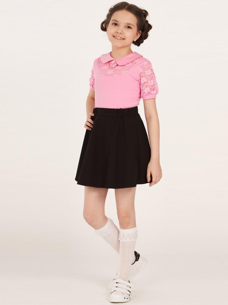 Блузка трикотажная для девочки, цвет: розовый