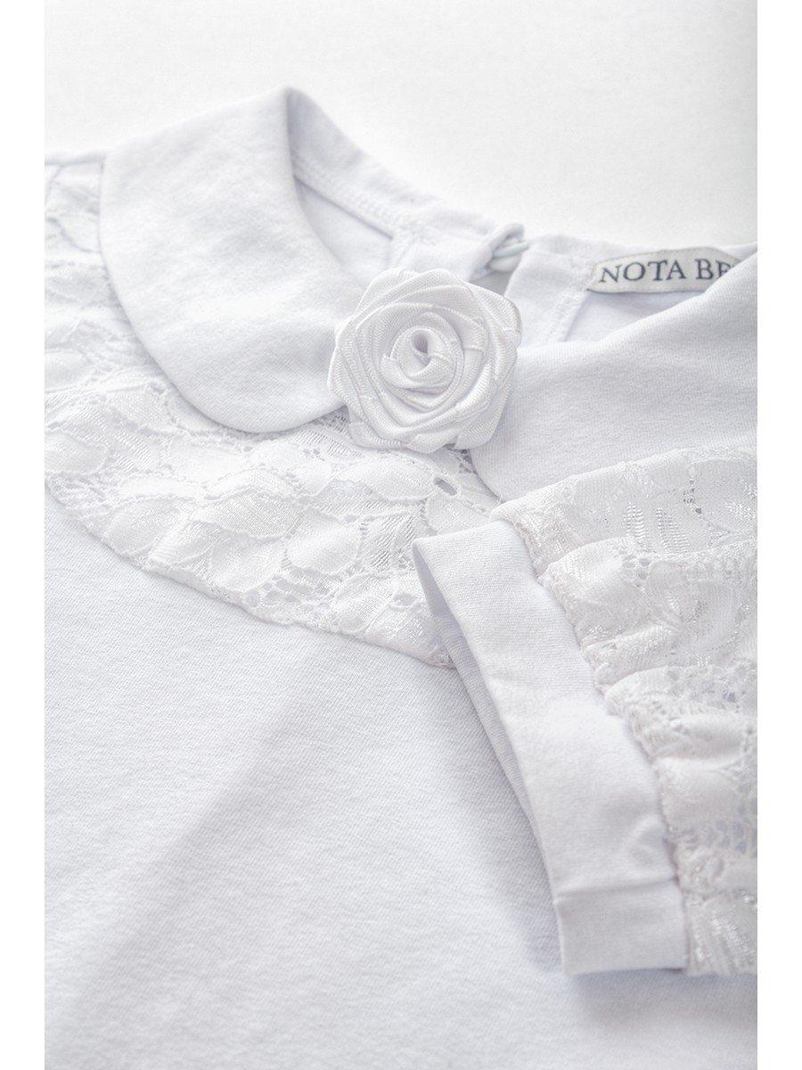 Блузка для девочки младшего школьного возраста белый