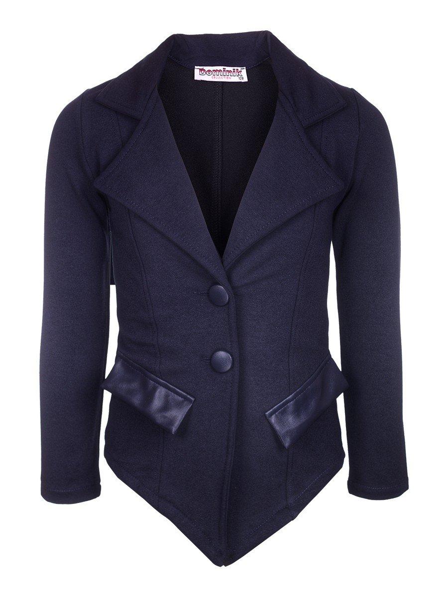 Пиджак для девочки, цвет: темно-синий