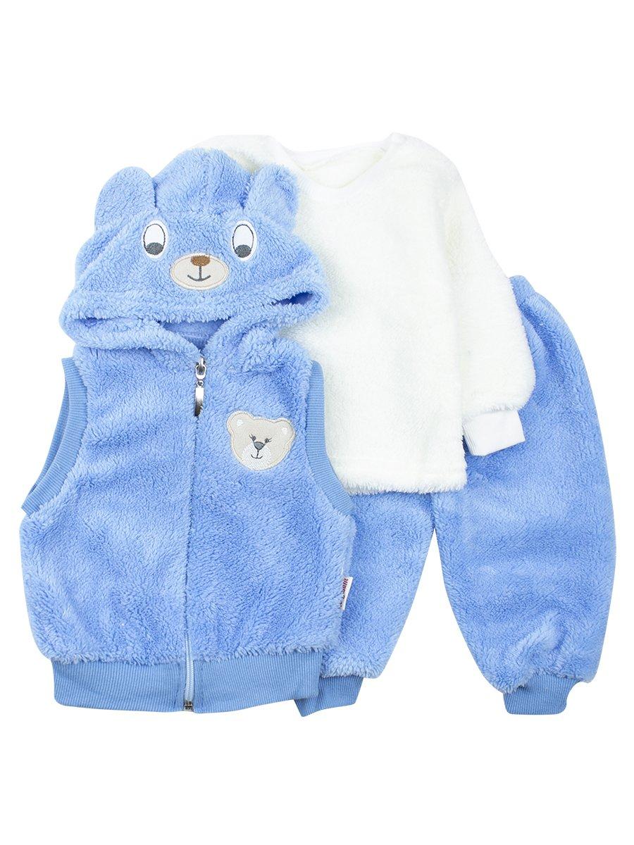 Комплект махровый детский, цвет: голубой