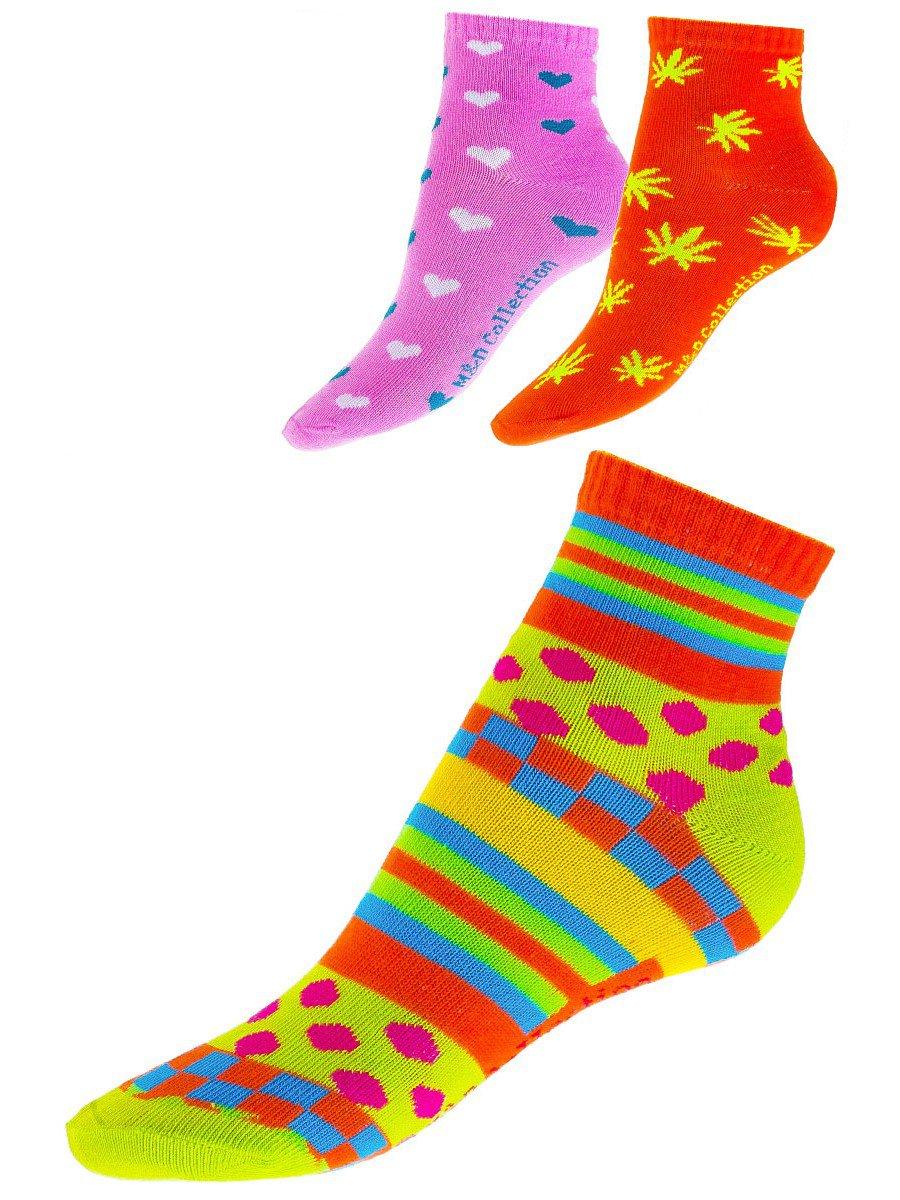 Носки для девочки 3шт/уп, цвет: мультиколор
