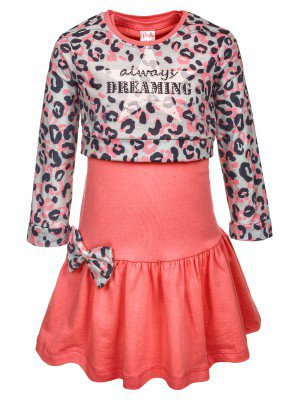 Комплект для девочки:лонгслив укороченный и платье